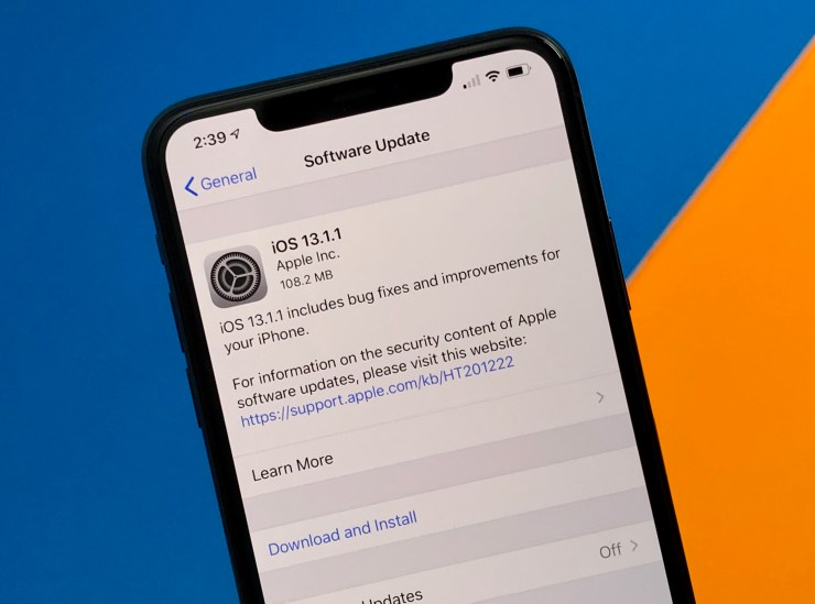 Install iOS 13.1.2 for Better Security