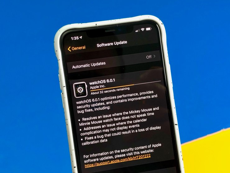 What's new in watchOS 6.0.1?