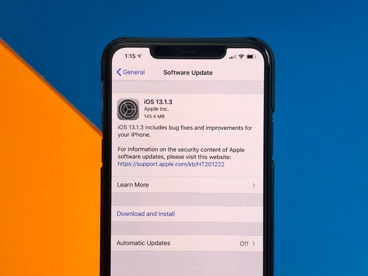 Install iOS 13.1.3 for Better Security