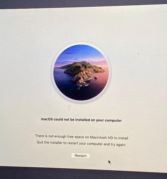 Fix macOS Catalina install problems.