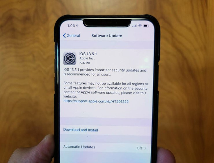 Install iOS 13.5.1 for Better Security