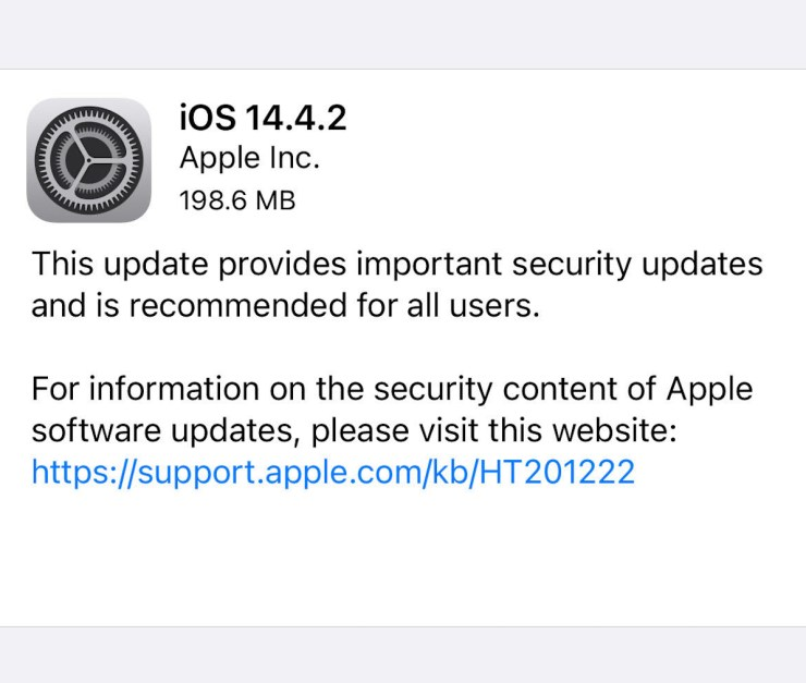 Install iOS 14.4.2 for Better Security