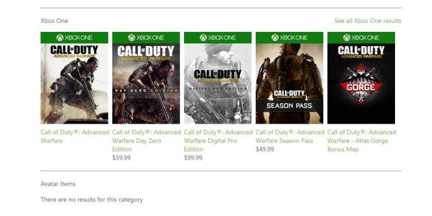 Advanced Warfare Xbox One