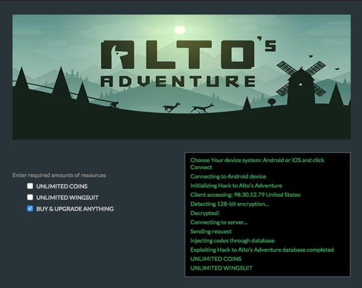 Don't waste time with Alto's Adventure cheats and hacks.