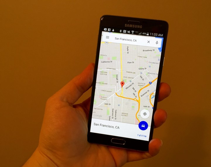 Use Google Maps easier on Android.