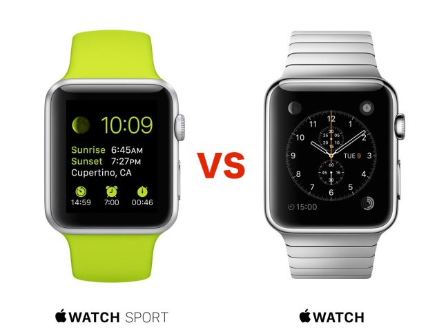 Apple Watch Sport vs Apple Watch