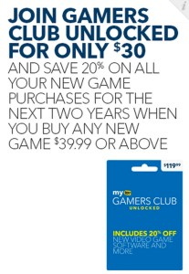 Score 20% off all games.