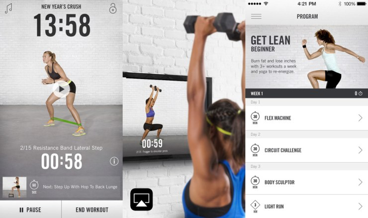 The Nike+ app has your weight loss plan with workouts to get you to your goal.