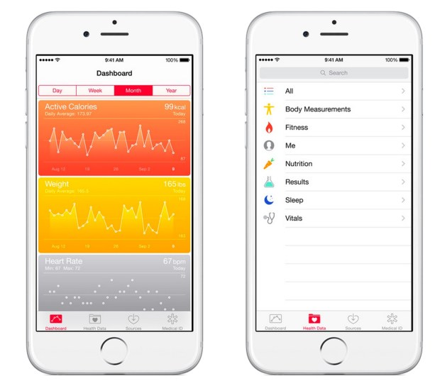 Best Weight Loss Apps - iOS 8 Health