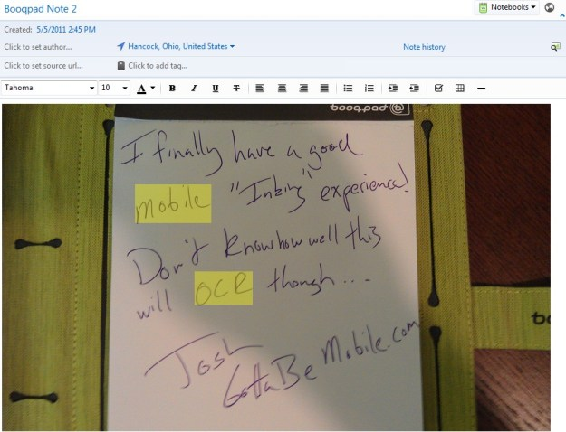 BooqPad Review - Evernote OCR