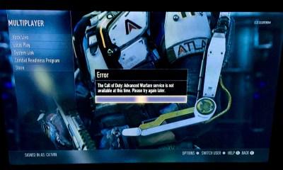 Call of Duty: Advanced Warfare Day Zero server problems hamper release.