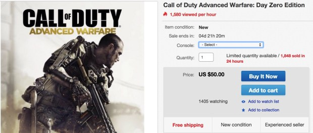 Save $10 with this Call of Duty: Advanced Warfare deal.
