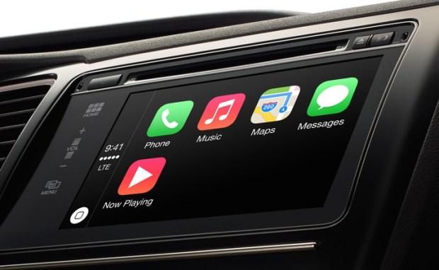 Apple CarPlay looks much like a iPhone home screen.
