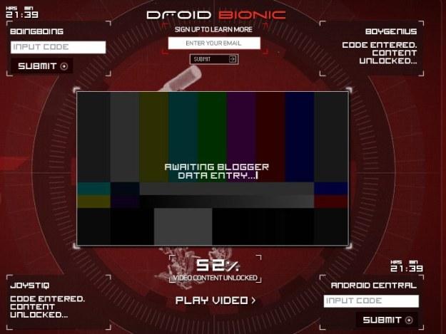 Droid Bionic marketing kicks off