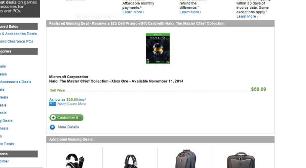 Dell Halo The Master Chief Collection Deal