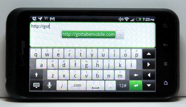 Droid Incredible 2 Review - Keyboard