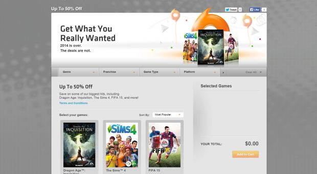 EA New Year Game Sale