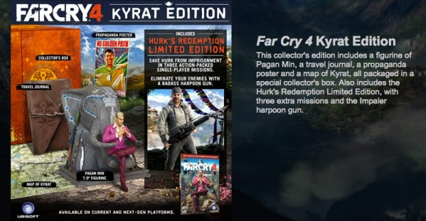 The Far Cry 4 special edition includes added items in the real world, but not in game.