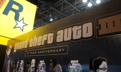 Grand Theft Auto III at Rockstar booth NY Comic Con