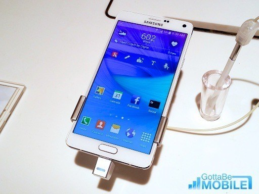 The Galaxy note 4 release arrives as Samsung shares bad news.