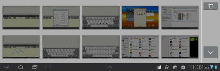 Samsung Galaxy Tab 8.9 Clipboard