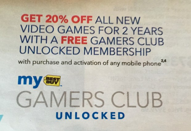 Get Gamer's Club Unlocked free with a new smartphone to score 20% off all games for two years.
