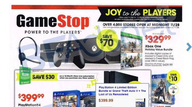 Gamestop black friday 2014 ads