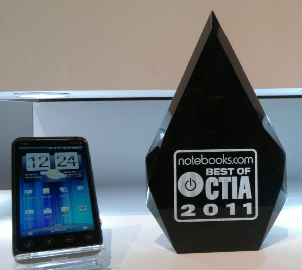 HTC Evo 3D Best Smartphone of CTIA