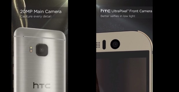 The HTC One M9 camera details leaked on YouTUbe.