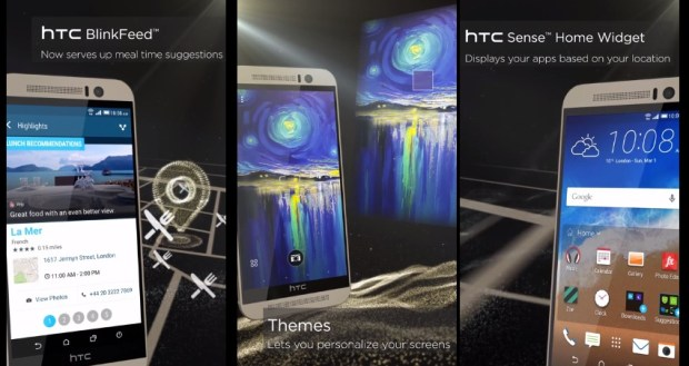 Leaks show off HTC One M9 software.