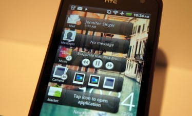 HTC Rhyme app drawers Home widget