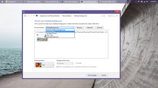 How to Set a Background in Windows 8 (10)