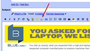 How to insert images in gmail