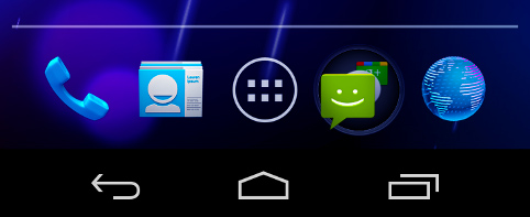 Android 4.0 buttons are now on screen