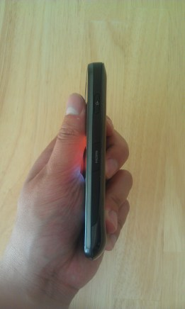 Side profile of Droid Charge as taken with HTC Thunderbolt's 8 MP camera
