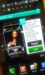 Social network integration with favorite contacts; as taken with HTC Thunderbolt's camera