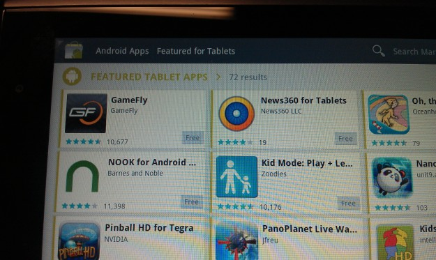 tablet apps in market