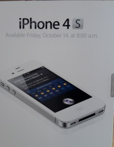 iPhone 4S Available for sale at Apple on Friday Oct 14