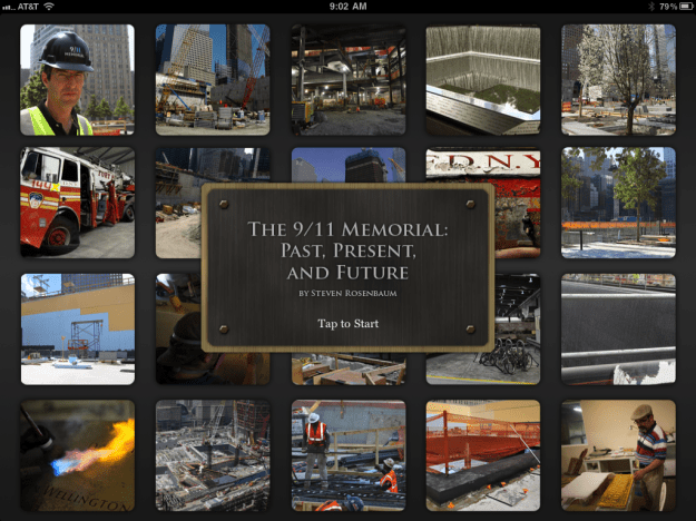 The 911 Memorial: Past, Present and Future opening screen