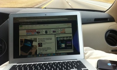 MacBook Air On the Road