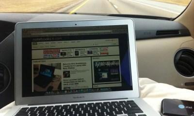 MacBook Air On the Road