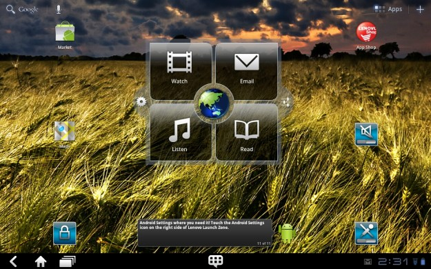 Android Tablet Lenovo Home Screen K1