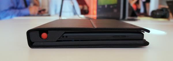 Side View, Closed - ThinkPad Tablet Keyboard Folio Case