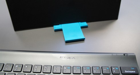 Logitech Tablet Keyboard Case base slides out for different angles