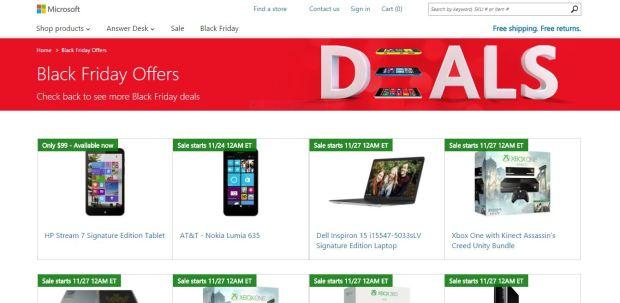 Microsoft Black Friday 2014 Deals