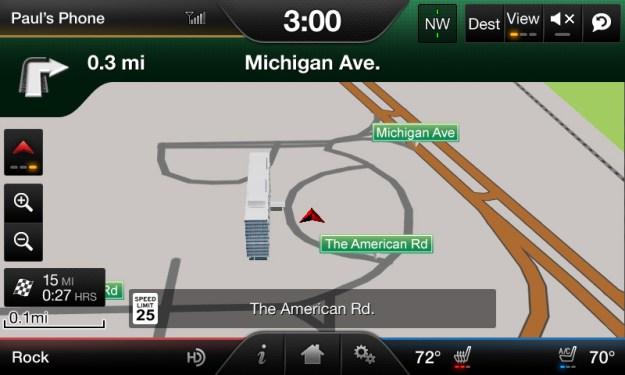 MyFord Touch Navigation