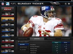 NFL Sunday Ticket iPad app
