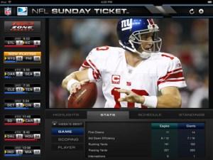 NFL Sunday Ticket iPad app