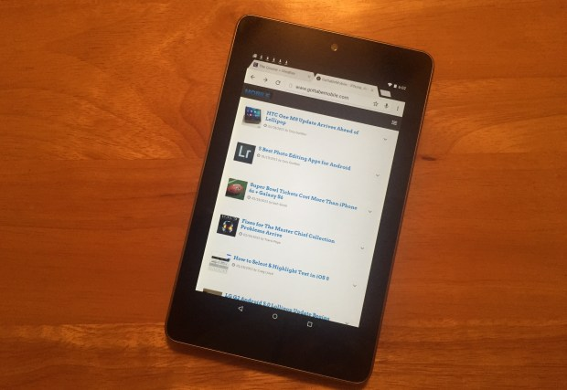 If you have problems, you should try Android 5.0.2 on the Nexus 7 2012, otherwise you may want to wait.