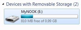Nook offers just 1GB of space